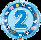 Folienballon rund blau Heliumballon Kindergeburtstag Deko Dekoration Junge Party Bouquet Ballon Luftballon Birthday Boy 1 2 3 4 5