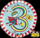 Folienballon rund blau Heliumballon Kindergeburtstag Deko Dekoration Junge Party Bouquet Ballon Luftballon Rachel Ellen Happy Birthday Boy 1 2 3 4 5 Superhero Superheld Held