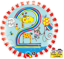 Folienballon rund blau Heliumballon Kindergeburtstag Deko Dekoration Junge Party Bouquet Ballon Luftballon Rachel Ellen Happy Birthday Boy 1 2 3 4 5 Giraffe Tiere