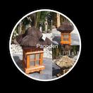 lampen, pagoden, japan, gartendekoration, vorgarten, beleuchtung, teich, bambus, holz, geschenk, licht im garten