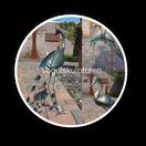 vogel, pfau, kranich, fischreiher, spatz, skulptur, metalldekoration, metallskulptur, garten, wohnbereich weihnachten, sommer, gartenteich, gartentrend