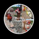 skulpturen, dekoration, gartendekoration, fantasie, metalldeko, gartendeko, vogel, fantasie, wohntrend, neuheit, lebensgroß, handmade, bali paradies