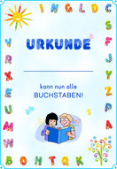 Urkunde Buchstabenfest