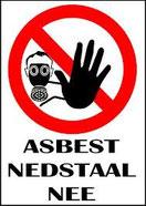 logo asbest nedstaal nee