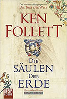 Cover des Buches Die Säulen der Erde von Ken Follett.