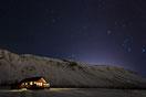 Unsere Hütte bei Nacht
