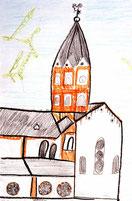 Zeichnung der Basilika von Alexej (9 Jahre)