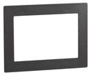 Design-Rahmen DR 801 uP (DB-703 Eisenglimmer) von Telenot;  presented by SafeTech