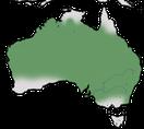 Karte zur Verbreitung des Weißbauch-Staffelschwänze (Malurus lamberti) in Australien.