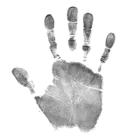 Handanalyse: Handabdruck