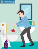 Débouchage de toilette ventouse mauvaise odeur