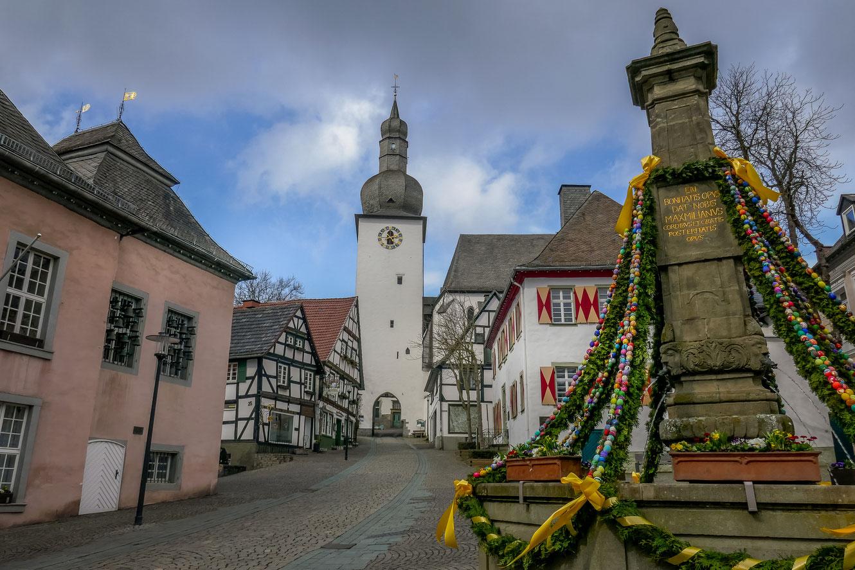 arnsberg, sehenswürdigkeiten, altstadt, glockenturm, alter markt, maximilianbrunnen, ostern, infos, tipps, fotostandort