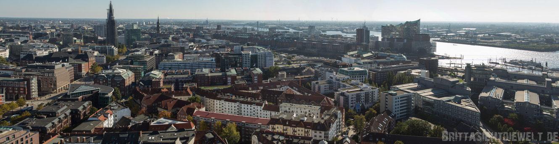 Hamburg, Michel, sankt, michaelis, Aussicht, turm, elbphilharmonie, Panorama