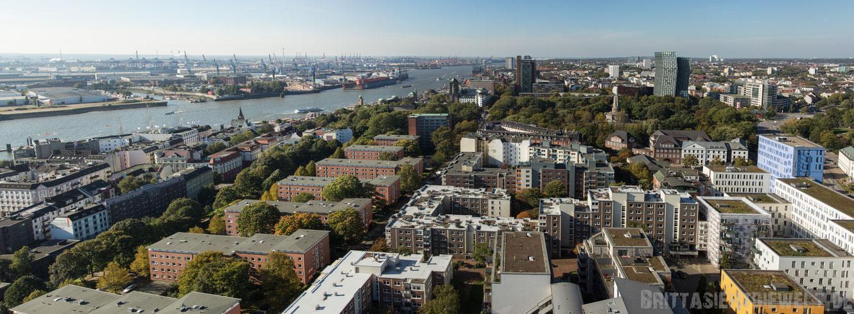 Hamburg, Michel, sankt, michaelis, Aussicht, turm, Panorama, Hafen