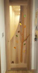 室内ドア 木製 ステンド かわいい 個性的