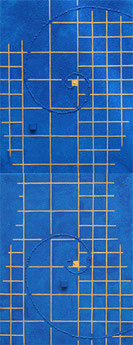 Golden Grid 5 mini me  light blue   F0×2   140mm×360mm   Acrylic 2012