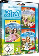 3in1 Tier-Box: Meine Tierpension – Tapsige Tiere machen Ferien + Mein Beautyhotel für Tiere + Meine Tierarztpraxis in Australien - Press Info