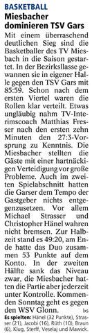 Bericht des Miesbacher Merkur am 9.10.2013 - Zum Vergrößern Klicken