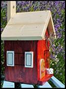 Vogelhuisje, nestkastje hout_Chocolade 1_bruin_dak blank_deur blank