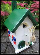 Vogelhuisje, nestkastje hout_nestkastje wit 6_Woudgroen_dak_deur