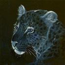 LEOPARD Acryl / Lwd. 40 x 40 cm