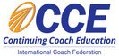 Logo de CCE Continuing Coach Education de la Federación Internacional de Coaching