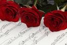 バラとピアノ楽譜