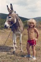 Bianca Jost mit Esel