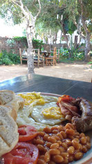The massive breakfast at Gamboozini Lodge, Ponta Do Ouro, Mozambique. Dante Harker