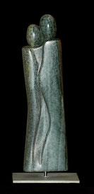 Innigkeit Paar Speckstein Skulptur