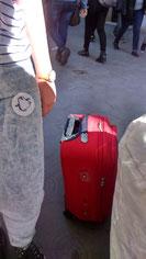 La reportera Irene  (@PinguinoLector) i la seva maleta