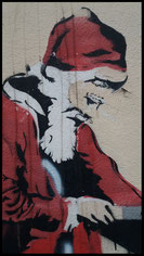 """Stencil work von einem unbekannten Künstler mir dem Stil eines """"Banksy"""""""