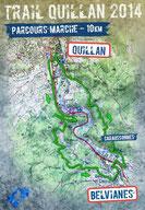 Plan Marche 10km - Trail Quillan 2014