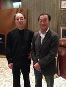 左が弟の原田禎夫、右が原田維夫。当日の楽屋にて。