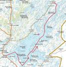 Inari lake map.