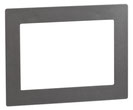 Design-Rahmen DR 801 uP (RAL 9007 Graualuminium) von Telenot;  presented by SafeTech