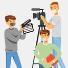 3人の撮影スタッフ、制作スタッフ