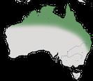 Karte zur ´Verbreitung des Rotrücken-Staffelschwanz in Australien.