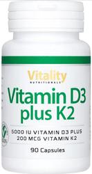 Vitamin D3 plus K2 von Vitality Nutritionals