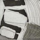 Monika Humm Radierung in schwarz-weiss aus der Serie Aquatinta