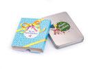 Geschenkdose Happy Birthday, Produktfoto bedruckte Geschenkbox und Banderole