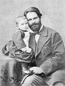 Л.П.Сабанеев с сыном Борисом