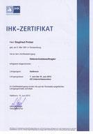 Zertifikat IHK Datenschutzbeauftragter