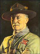 Portrait de Lord Baden-Powell, fondateur du scoutisme.
