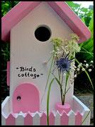 Vogelhuisje,nestkastje hout_nestkastje Cottage,wit nestkastje
