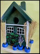 Vogelhuisje,nestkastje hout_nestkastje Potten blauw,woudgroen nestkastje