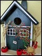 Vogelhuisje,nestkastje hout_nestkastje Potten rood,woudgroen nestkastje