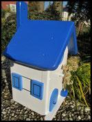Houten nestkastjes - Griekse stijl in Grieks blauw