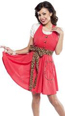 Designer Damenschürze Leopard Rot im Onlineshop