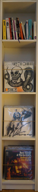 Example record shelf (shelf and accessoires not included in scope of the delivery).